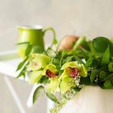 Guirlande nuptiale d'orchidée Images stock