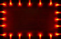 Guirlande orange rougeoyante Images libres de droits