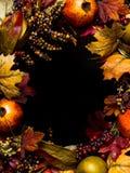 Guirlande ovale de cadre d'automne Photos libres de droits