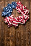 Guirlande patriotique de l'indépendance de bannière étoilée Images stock