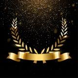 Guirlande r?aliste de laurier d'or avec l'espace des textes illustration libre de droits