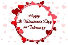 Guirlande romantique pour le saint Valentine Day, épousant des invitations, poule-partie, la naissance d'une fille, cartes de voe illustration libre de droits