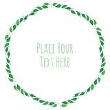 Guirlande ronde d'herbe verte de cadre Photo stock