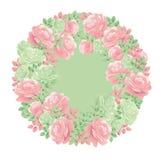 Guirlande rose de fleur d'offre décorative de couleurs en pastel Images libres de droits