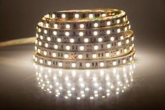 Guirlande rougeoyante de LED, bande Images stock