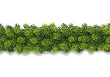 Guirlande sans couture détaillée de Noël Photo stock