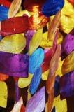 Guirlande sur le marché de Noël Image libre de droits