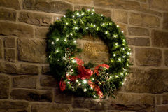 Guirlande verte de Noël image stock
