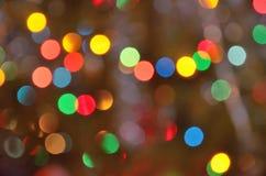 Guirlandes colorées d'arbre de Noël de lumières Photo stock