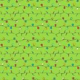 Guirlandes de croquis sur le fond vert Photographie stock libre de droits