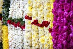 Guirlandes de fleur dans l'Inde Photographie stock libre de droits