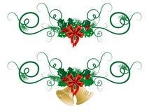 Guirlandes de Noël Photo libre de droits