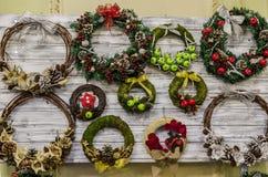 Guirlandes de Noël Photographie stock libre de droits