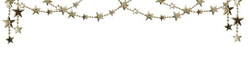 Guirlandes de Noël avec les perles et les étoiles argentées Photos libres de droits