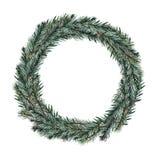 Guirlandes de Noël d'aquarelle photos libres de droits