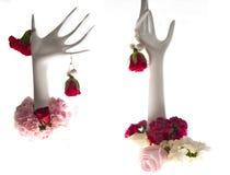 Guirlandes et fleurs Images libres de droits
