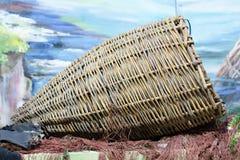 Guirlandes, osier, articles de pêche Images libres de droits