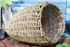 Guirlandes, osier, articles de pêche photographie stock libre de droits