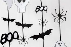 Guirlandes ou décorations de papier de partie de Halloween Image libre de droits