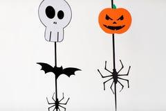 Guirlandes ou décorations de papier de partie de Halloween Photo stock