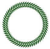 Guirlandes vertes de laurier - illustration de vecteur Photos libres de droits