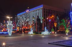 Guirnalda al aire libre de la Navidad Imagen de archivo