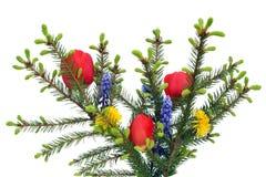Guirnalda alternativa de la Navidad Foto de archivo