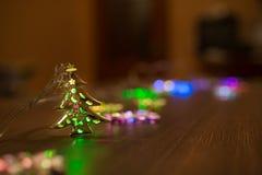 Guirnalda caliente del oro de la Navidad Fotografía de archivo libre de regalías