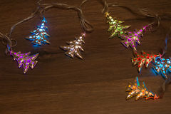 Guirnalda caliente del oro de la Navidad Fotografía de archivo