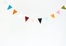Guirnalda colorida de la bandera Imagenes de archivo