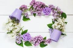 Guirnalda colorida de la lila Imagen de archivo
