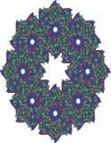 Guirnalda compleja en rojo, blanco, azul, y verde Fotos de archivo