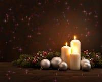 Guirnalda de Advent Christmas Imágenes de archivo libres de regalías