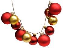 Guirnalda de bolas de la Navidad Imagen de archivo