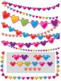 Guirnalda de corazones Imágenes de archivo libres de regalías