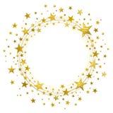 Guirnalda de estrellas de oro Fotografía de archivo