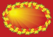Guirnalda de flores stock de ilustración