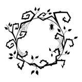 Guirnalda de Halloween con la rama, la araña y el spiderweb negros Ilustración del vector stock de ilustración