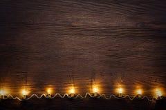 Guirnalda de la celebración de bombillas Foto de archivo libre de regalías