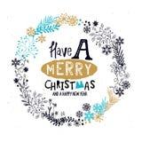 Guirnalda de la Feliz Navidad Imagen de archivo libre de regalías