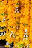 Guirnalda de la flor para selled en el mercado Tailandia Imagenes de archivo
