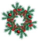 Guirnalda de la Navidad. ilustración del vector