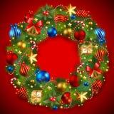 Guirnalda de la Navidad Fotografía de archivo