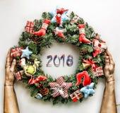 Guirnalda de la Navidad Año Nuevo Día de fiesta de la Navidad Fotos de archivo libres de regalías