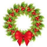 Guirnalda de la Navidad con el arqueamiento rojo Fotografía de archivo libre de regalías