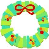 Guirnalda de la Navidad con el marco del arco Fotos de archivo libres de regalías