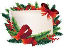 Guirnalda de la Navidad con el papel Foto de archivo