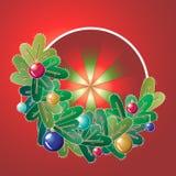Guirnalda de la Navidad con las decoraciones Fotografía de archivo libre de regalías