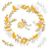 Guirnalda de la Navidad con las mandarinas y los conos del pino fotos de archivo libres de regalías