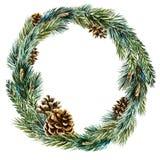 Guirnalda de la Navidad de la acuarela del vector libre illustration